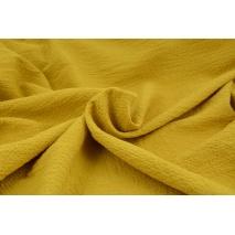 Bawełna 100%, tkanina z fakturą, musztardowa 155/m2