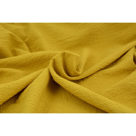 Cotton 100%, fabric with texture, mustard 155/m2