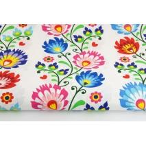 Cotton 100% folk pattern (stripes) on a white background