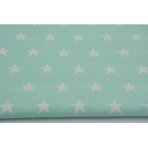 Cotton 100% stars 20mm on a mint background II quality