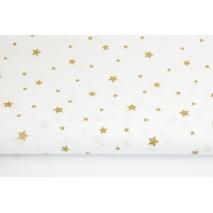 Bawełna 100% złote gwiazdki na białym tle II jakość