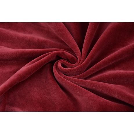 Knitwear 100% cotton velor, bordeaux
