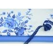 Cotton 100% plain dark blue 120 g/m2