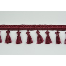 Ribbon with fringes bordeaux 5cm (2)