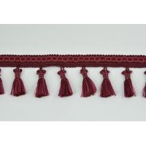 Tasiemka z frędzlami bordo 5cm (2)