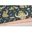 Cotton 100% mammoths on a navy background