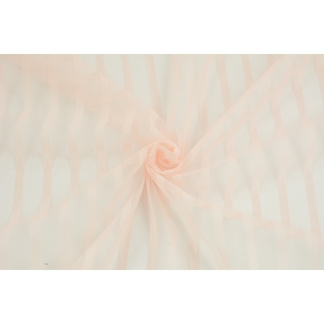 Soft tulle striped, salmon