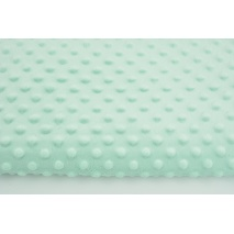Dimple dot fleece minky in a light mint color 300 g/m2