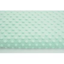 Dimple dot fleece minky in a light mint color 300 g/m2