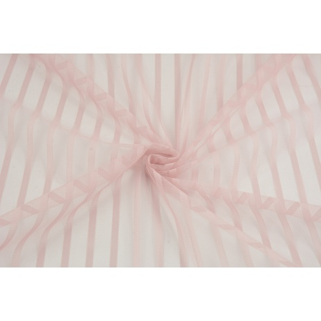 Soft tulle striped, powder dirty pink