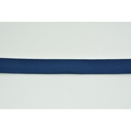 Cotton ribbon herringbone navy 25mm