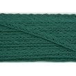 Cotton lace 15mm in an emerald color (wave)