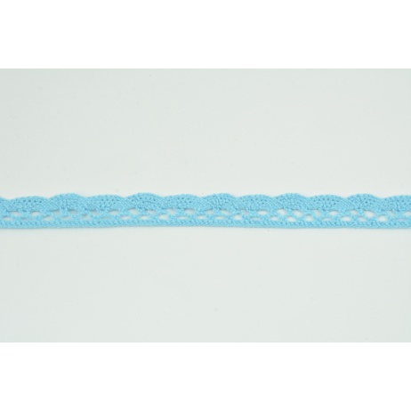 Cotton lace 15mm in a medium turquoise color (wave)