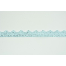 Cotton lace 18mm in a light blue color