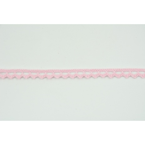 Cotton lace 9mm in a medium pink color
