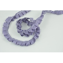 Ribbon frill dark purple check