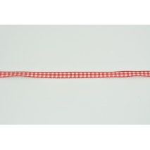 Ribbon red cheerful check 7mm x 20m