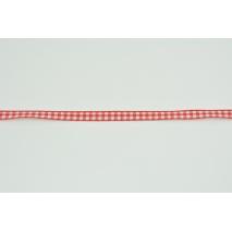 Tasiemka, wstążka w czerwoną krateczkę 7mmx20m