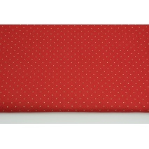Cotton 100% gold tiny dots on a red background, poplin