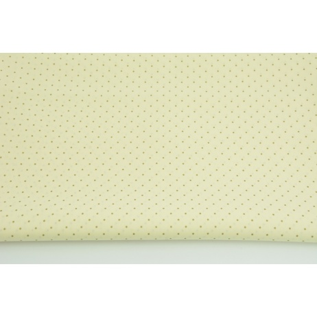 Cotton 100% gold tiny dots on a vanilla background, poplin