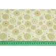 Cotton 100% gold snowflakes on a vanilla background, poplin