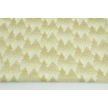 Bawełna 100% złoty las na waniliowym tle, popelina