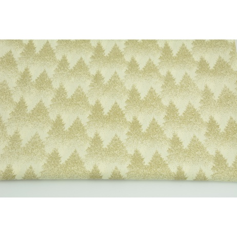 Cotton 100% golden forest on a vanilla background, poplin