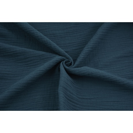 Double gauze 100% cotton plain dark jeans