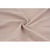 Double gauze 100% cotton plain powder pink