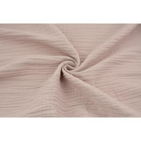 Double gauze 100% cotton plain powder pink