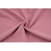 Double gauze 100% cotton plain dark pink