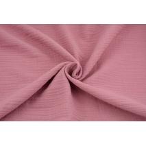 Double gauze 100% cotton plain dark pink