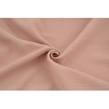 Double gauze 100% cotton plain dirty pink