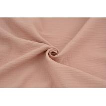 Double gauze 100% cotton plain dirty pink
