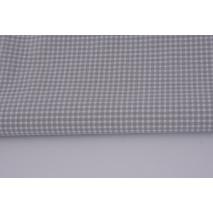 Bawełna 100% szara mała krateczka *1m* odcień jaśniejszy
