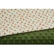 Dimple dot fleece minky in a khaki color 380 g/m2