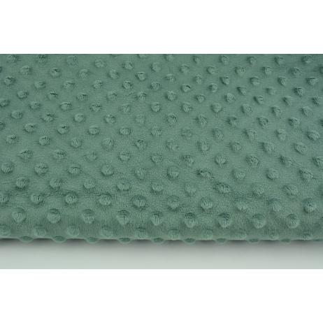 Dimple dot fleece minky in a sage color 380 g/m2