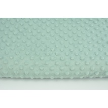 Dimple dot fleece minky in a gray-mint color 380 g/m2