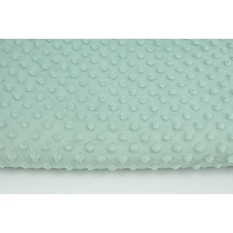 Dimple dot fleece minky in a gray-mint color 380 g/m2