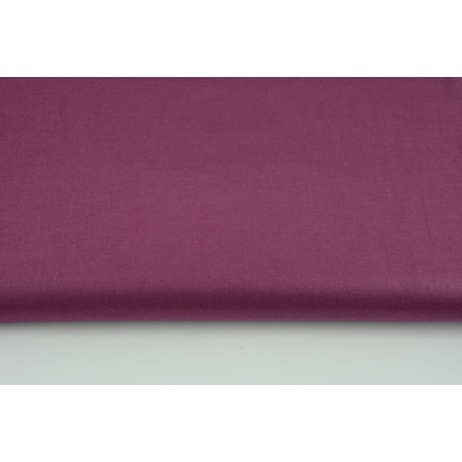 Cotton 100% plain porcelain burgundy