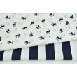 Cotton 100% white bows on a navy background