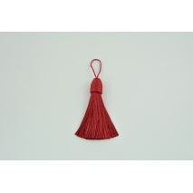 Large fringe with loop red