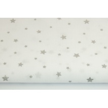 Cotton 100% silver stars on a white background II quallity