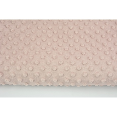 Dimple dot fleece minky in a powder dirty pink color 380 g/m2