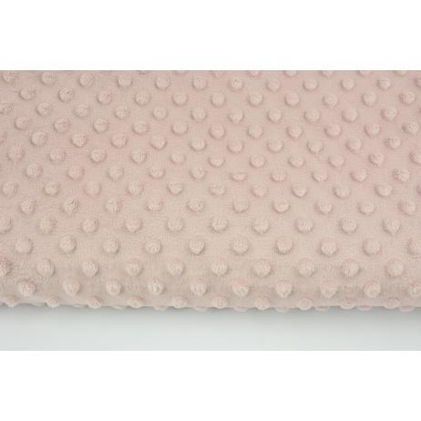 Polar z wytłaczanymi bąbelkami minky pudrowy brudny róż 380g/m2