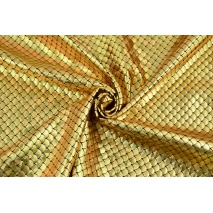 Lama fabric, golden scales