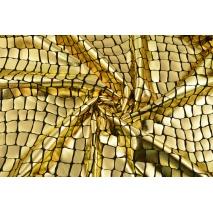 Tkanina typu lama, aligator złoty