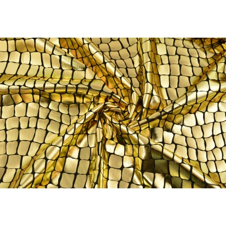 Lama fabric, golden alligator