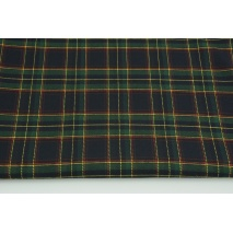 Clothing fabric with elastane, medium tartan check navy-green