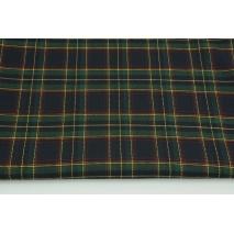 Tkanina odzieżowa z elastanem, średnia krata granatowo-zielona